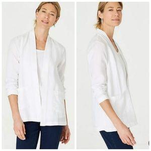 J. Jill pure jacket blazer linen open front XS